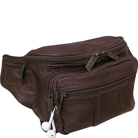 AmeriLeather Easy Traveller Fanny Pack (Brown)