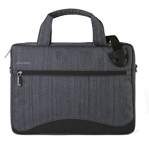 VanGoddy Wave Slim Charcoal Anti Theft Messenger Bag for Dell Latitude/Inspiron / Precision