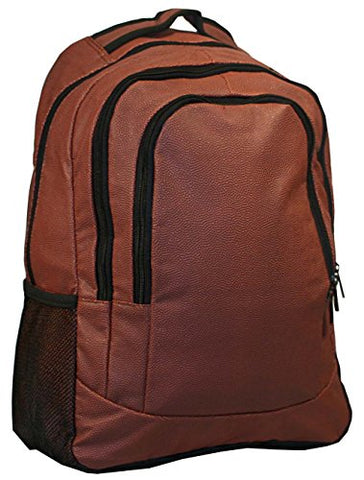Football Leather Laptop School Backpack