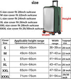 "Luggage Cover,Clear PVC Transparent Travel Suitcase Protector Dust-proof Cover for 20-28 Inch Luggage (20"" Luggage, Wine Red)"