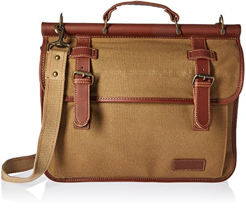 Tommy Hilfiger Workhorse Dowel Flap-Over Messenger, Khaki