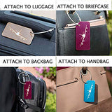 Travelambo Aluminum Luggage Tags & Bag Tags (mixed colors with prints 10 pcs set)