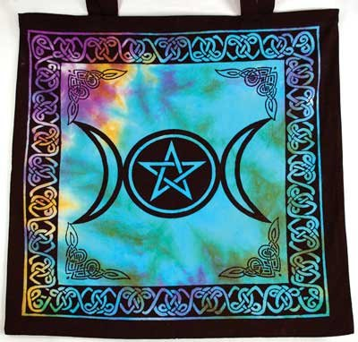 AzureGreen RB74TMP Triple Moon Pentagram Tote Bag