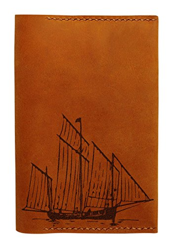 Ancient Ship Handmade Genuine Leather Passport Holder Case Hlt_01