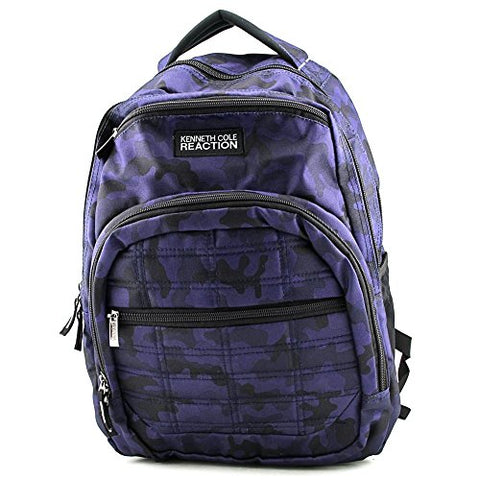 Kenneth Cole Reaction Camo Wreck Backpack Mens Blue Purse Backpack