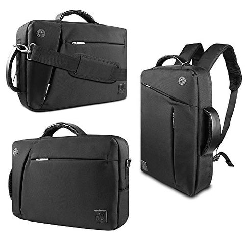 Vangoddy 3 In 1 Shoulder Bag Backpack And Messenger Bag For Asus Taichi / Tansformer Book Flip /
