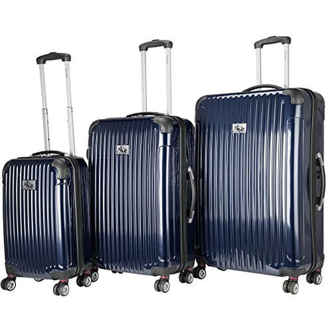Chariot Paola 3-Piece Hardside Expandable Lightweight Spinner, Navy