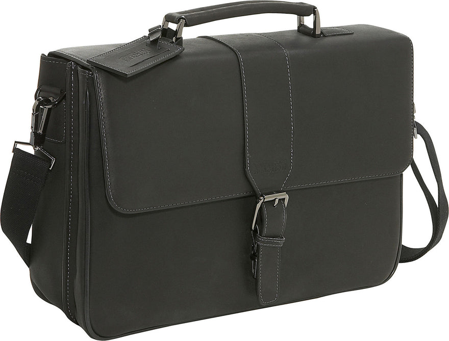 "Kenneth Cole Reaction ""Till Death Do Us Port"" Double Gusset Flapover Portfolio - Luggage Factory"