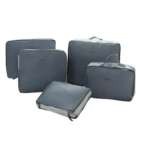 5pcs A Set Travel Packing Organizers Bag Dirty Clothes Belt Luggage Case Suitcase Bags Waterproof