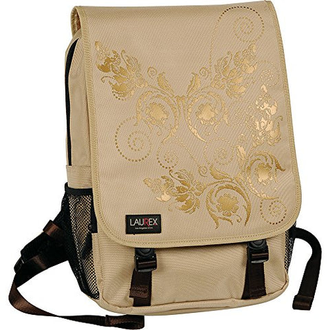 "Laurex 15.6"" Laptop Backpack (Beige Butterfly)"