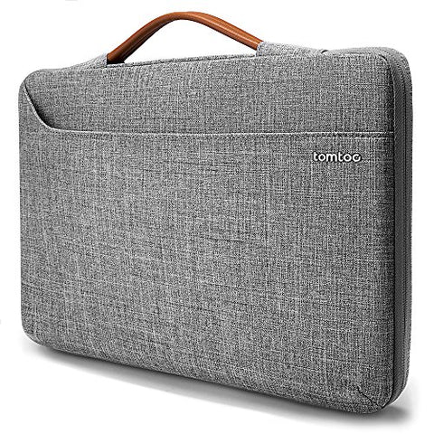 tomtoc 13.5 Inch 360° Protective Laptop Handle Sleeve Fit for Microsoft Surface Laptop 1 & 2, 13-13.5 inch Notebook Tablet Zipper Briefcase Handbag with Accessory Bag
