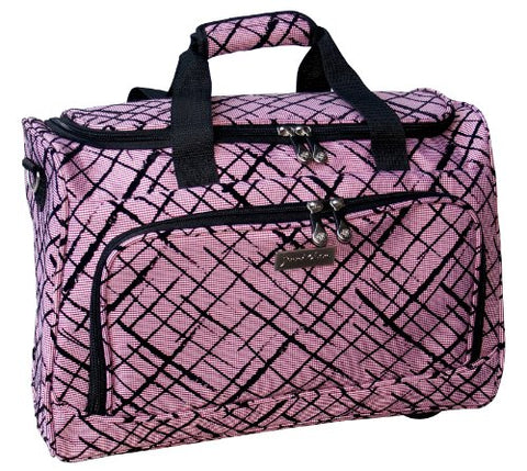 Jenni Chan Brush Strokes City Duffel, Red, One Size