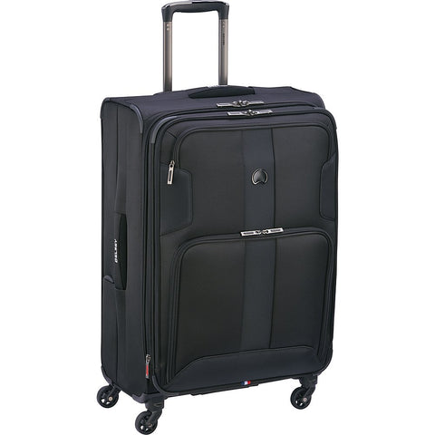 "Delsey Luggage Sky Max 25"" Expandable Spinner Upright, Black"