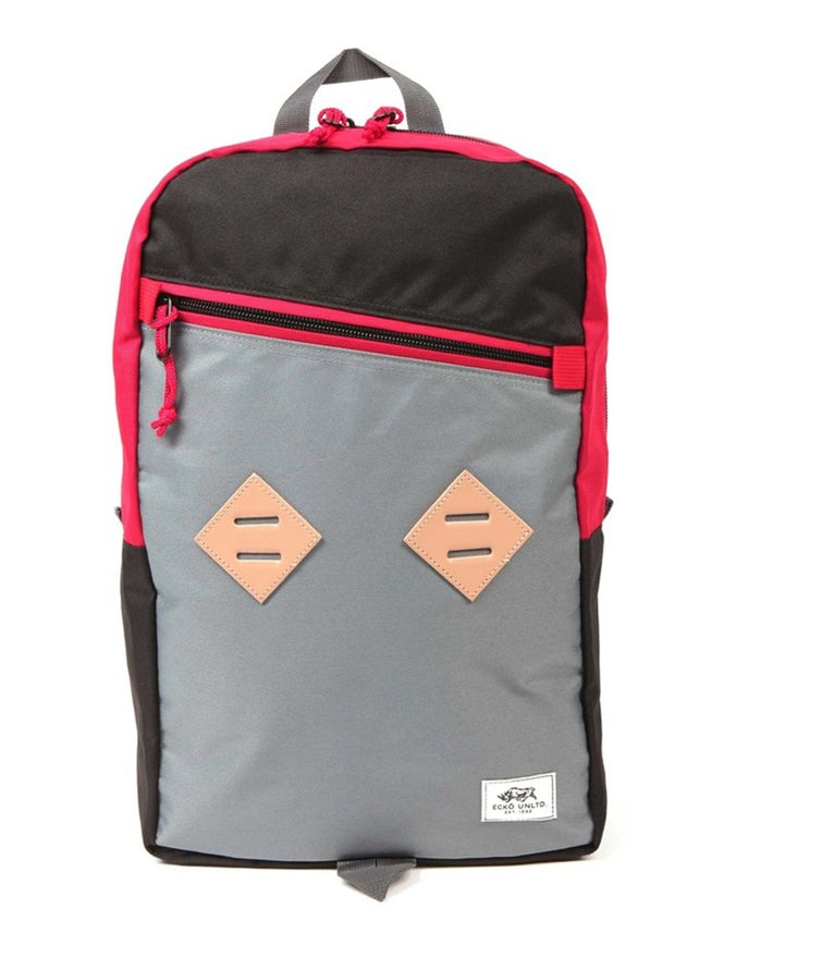 Ecko Unltd. Unisex Colorblock Zipper Everyday Backpack, Red, Small (17 in. - 22 in.)