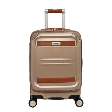Ricardo Beverly Hills Ocean Drive Mobile Office Spinner Carry-On Luggage, Sandstone, 19-Inch