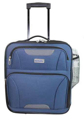 "Boardingblue Rolling Personal Item Luggage for Jetblue Sun Country Airlines 16.5"" (Navy)"