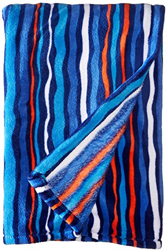 Vera Bradley Throw Blanket, Cobalt Stripe
