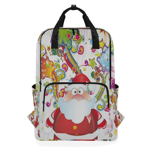 Backpack Happy Christmas Santa Claus Laptop Bag 14 Inch Lightweight for Men/Women