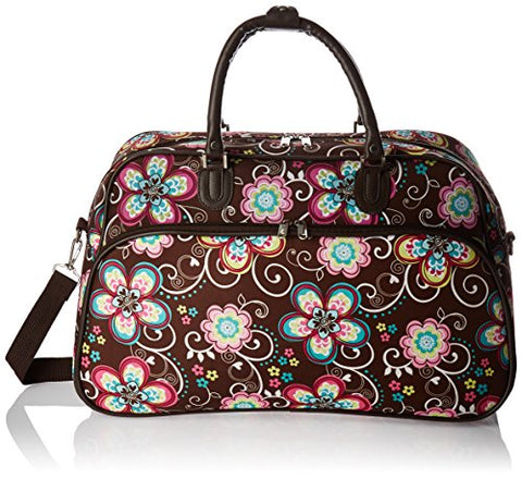 World Traveler Women'S Value Series 21-Inch Carry Duffel Bag, Brown Daisy, One Size