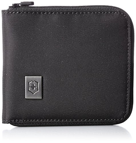 Victorinox Zip-Around Wallet, Black/Black Logo