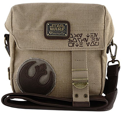 Loungefly The Force Awakens Star Wars Rebel Convertible Crossbody/Waist Bag Tan One Size