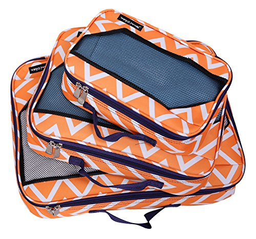 Jenni Chan Aria Madison Packing Cube 3pc Set, Orange