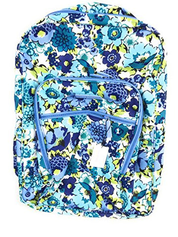 Vera Bradley Large campus Backpack Lighten Up Blueberry Blooms