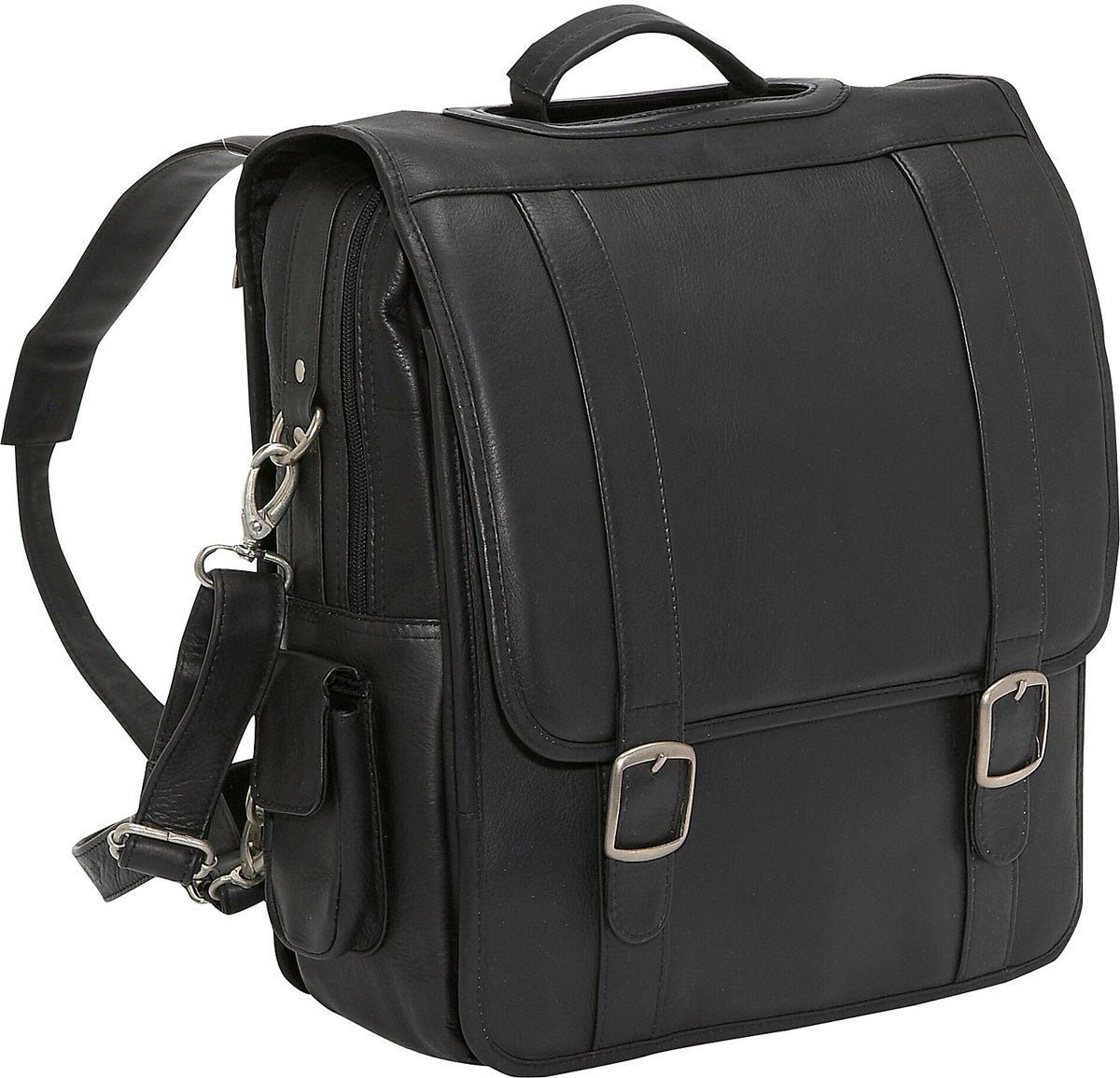 LeDonne Leather Convertible Laptop Backpack/Brief
