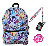 My Little Pony Backpack With Lanyard And Keychain Charm (Draw Art Version)