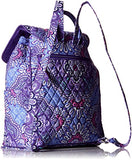 Vera Bradley Women's Drawstring Backpack, Lilac Tapestry