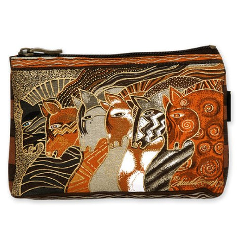 Laurel Burch Mythical Horses Cosmetic Purse (Brown Horse A)