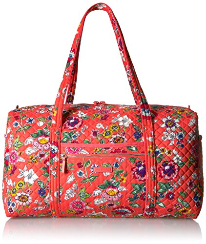 Vera Bradley Women's Iconic Large Travel Duffel-Signature, Coral Floral, One Size