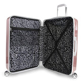 "Bebe Women'S Stella 21"" Hardside Carry-On Spinner Luggage, Rose Gold"