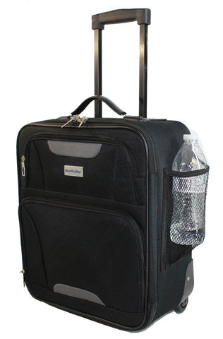 "Boardingblue Airlines Personal Item Under Seat Basic Small Luggage 16.5"" (Black)"
