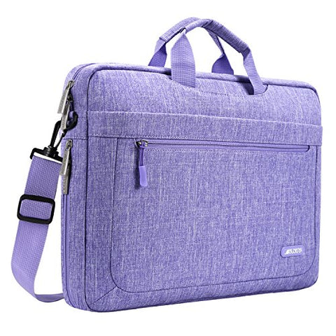 Mosiso Polyester Messenger Laptop Shoulder Bag Compatible 11.6-13.3 Inch Macbook Air, Macbook