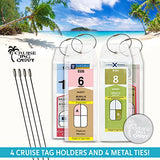 Cruise Luggage Tags Etag Holder Zip Seal & Steel Royal Caribbean Celebrity