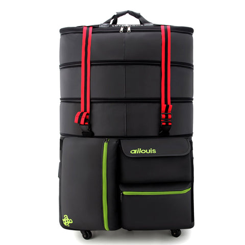 Extra Large Expandable Lightweight Luggage Rolling Duffel Bag (XXL) with Wheels Travelling Foldable Suitcase