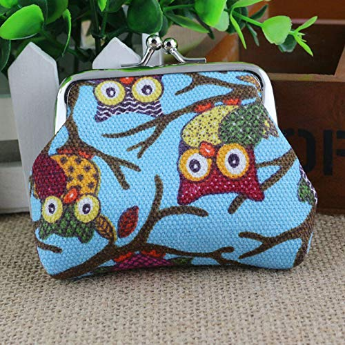 Womens Girls Change Coin Purse Small Clutch Wallet Keys Card Mini Pouch Holder (Color - #5 Light