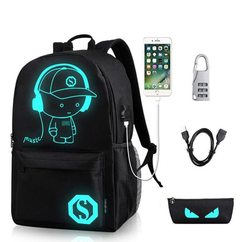 ZenithLife Unisex Casual Fashion Waterproof Luminous Anime Notebook, Black, Size No Size