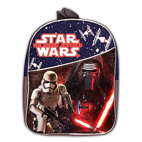 Star Wars Toddler Preschool Backpack Set - Bundle Includes 11 Inch Star Wars Mini Backpack and Stickers (Star Wars School Supplies)