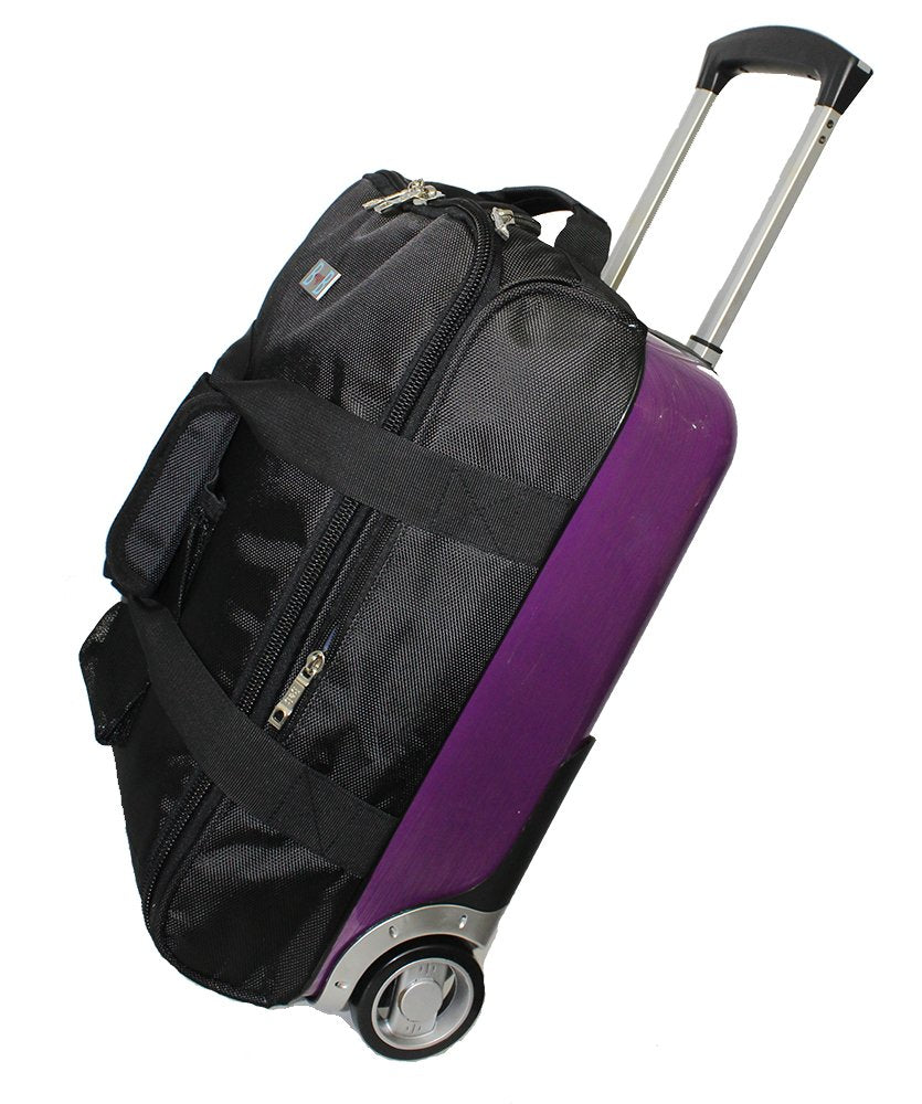 "BoardingBlue Rolling Personal Item Hardside Luggage (half) Under Seat 17""12""8""-PP"