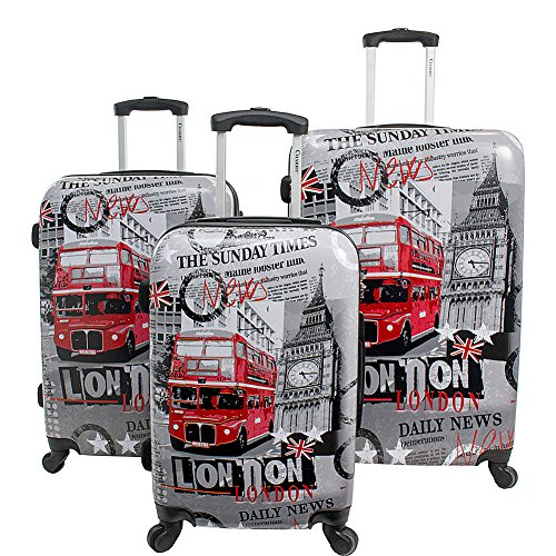 Chariot London 3 Piece Expandable Hardside Spinner Luggage Set (London)