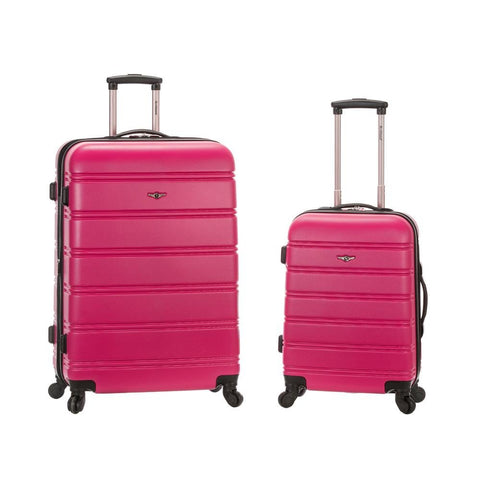 Rockland 20 Inch 28 Inch 2 Piece Expandable Abs Spinner Set, MAGENTA