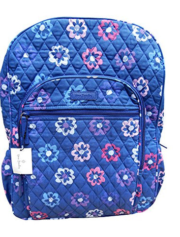 Vera Bradley Campus Backpack,Ellie Flowers with Purple Interiors,One Size