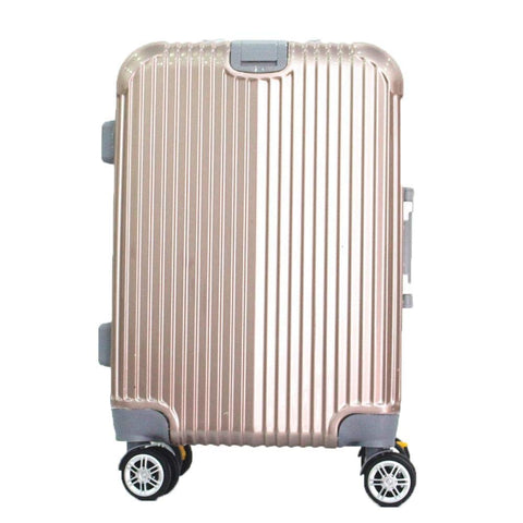 Boarding Suitcase, Wear-Resistant Trolley Case 20 Inch 24 Inch Zipper Suitcase, Checked Suitcase, White, 20""