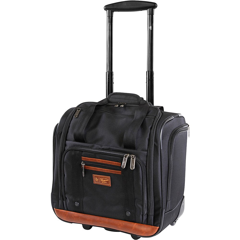 "Original Penguin Wheeled Under The Seat Carry On Bag-16"", Black"