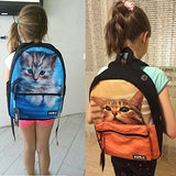 doginthehole Animal Cats Dogs Backpacks Teen School Book Bag Galaxy Butterfly