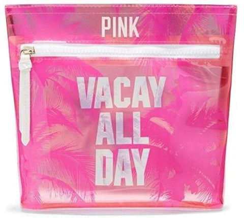 Victoria's Secret Pink Makeup Bag Vacay All Day Pouch