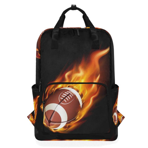Backpack American Football In The Fire Laptop Bag 14 Inch Lightweight for Men/Women