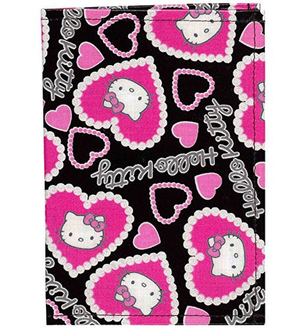 Hello Kitty Passport Cover Rem Heart (Black)
